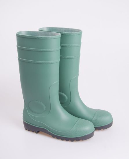 81114e9beb6a Green PVC Safety Rain Boots with Steel Toe and Steel Plate and Anti-Static  pictures
