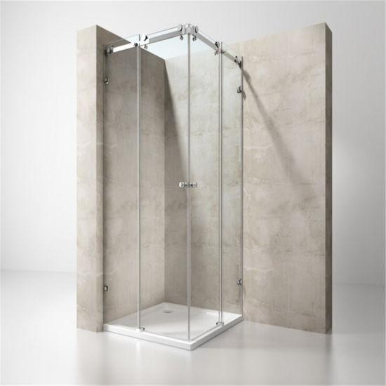 Modern European Style Stainless Steel Bathtub Sliding Shower Enclosure