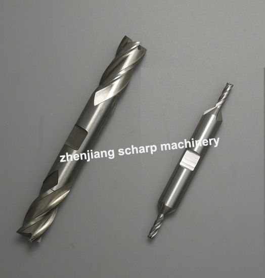 "1 inch 1/"" double ended center cut 3-flute HSS end mill"