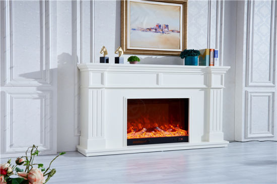China Customizable Modern Indoor Gas Fireplaces Mantel Remote