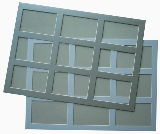 9 Opening Frame Mat Bevel Edge Pre Cut Mount Board For Picture