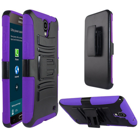 Zizo Advanced Armor Holster Combo Galaxy Mega 2 Case - Purple Black pictures & photos