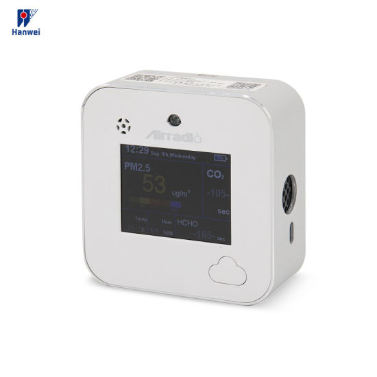 Indoor Air Quality Carbon Dioxide Monitor/Air Quality Monitor with Built-in Battery for Room/Office/Shopping Mall