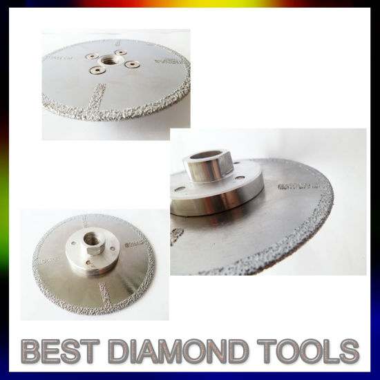 Double Sided Vacuum Brazed Diamond Tile Cutting Disc Saw Blade