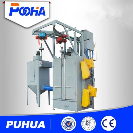 Q37 Single and Double Hook Type Shot Blast Cleaning Machine Double and Single Type Shot Blasting Machine pictures & photos