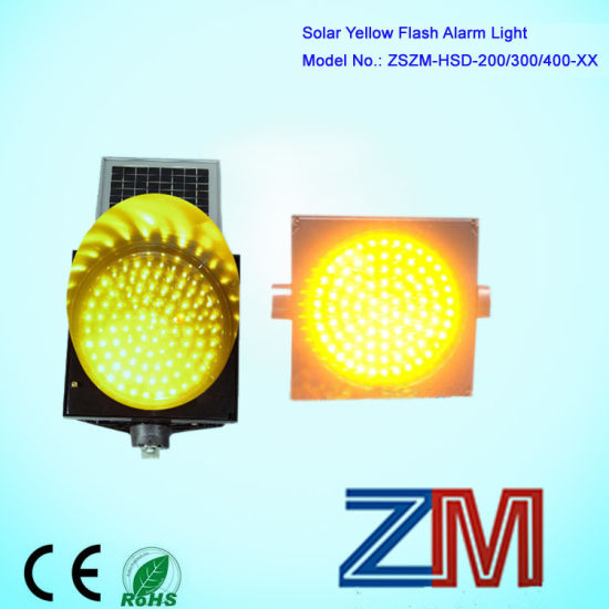 OEM/ODM Provided LED Flashing Solar Power Traffic Warning Light/ Traffic  Light Blinker / Traffic Flash Yellow Light