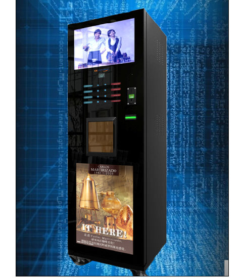 Large Screen Coffee Vending Machine Coin Operated Lf-306D-22g