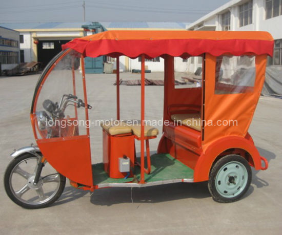 Electric Passenger Tricycle with Roof Front Cabin