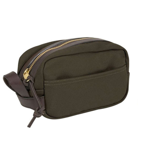 High Quality Factory Price Wax Canvas Wash Bag Toiletry Bag for Traveling