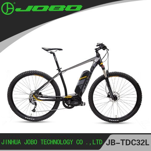 Aluminum Alloy Middle Motor Electric Bicycle / Full Suspension Electric Mountain Bike