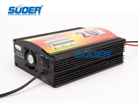 Suoer Battery Charger 20A Power Battery Charger 12V Good Quality Solar Charger with Four-Phase Charging Mode (MA-1220/MA-1204) pictures & photos