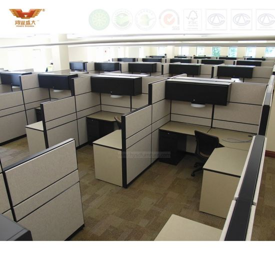 Modern Screen Panel Partition Cubicle Workstation For Office
