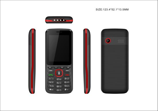 2.4inch Dual SIM GSM Mobile Phone Coming in New Design with 1400mAh Battery for SKD From Chinese Factory
