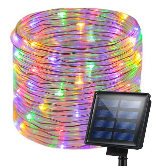 Solar Rope Lights, 200 LEDs 72FT/22m Waterproof Solar String Light (Multicolor)