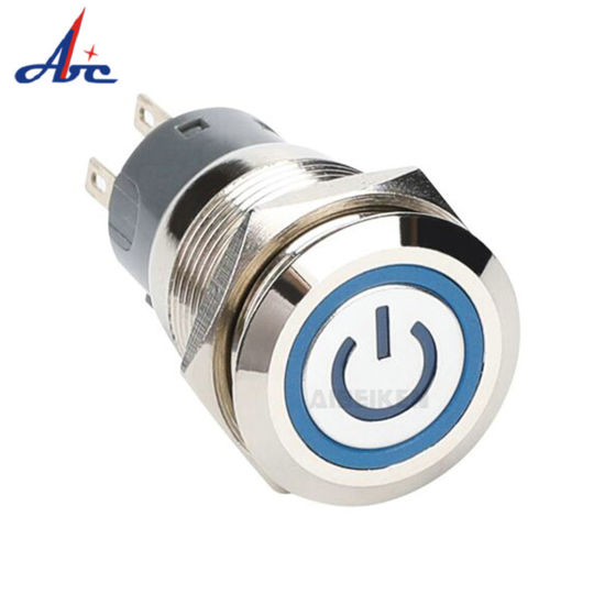 19mm on off Latching 12V LED Illuminated Power Button Switch