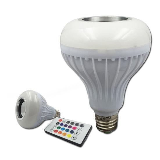 Fashion Light E27 LED Light Bluetooth Music Bulb with Normal Speaker