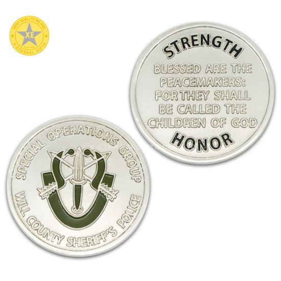 Wholesale Custom Zinc Alloy Gift Antique Nickel Plated Metal Coin