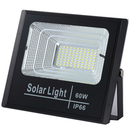 60W 100W 200W SMD Lm80 Square Outdoor Solar Motion Sensor LED Lights Flood Light pictures & photos