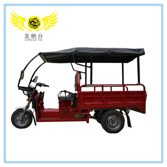 China 1000W High Quality Cargo Tricycle with Roof /Three Wheel Electric Motorcycle India