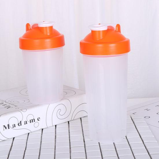 600ml BPA Free Custom Logo PP Plastic Protein Shaker Water Bottle