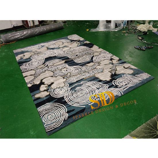 China 2019 Hotsale Cloudy Pattern Hand Tufted Wool Carpet ...