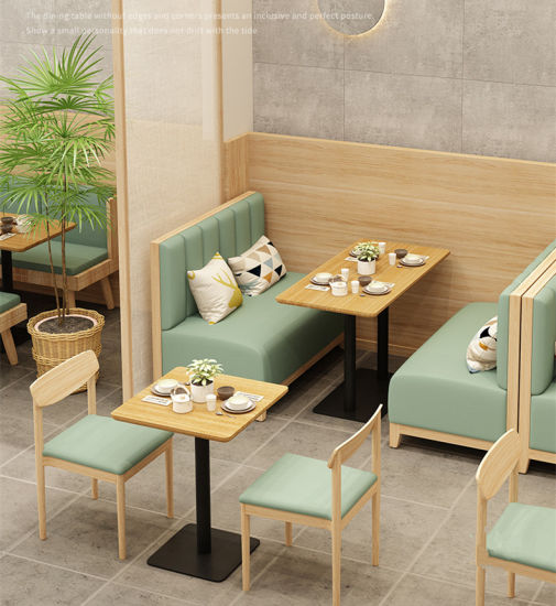 Simple Design Wooden Restaurant Table Chair Set Bentwood Furniture