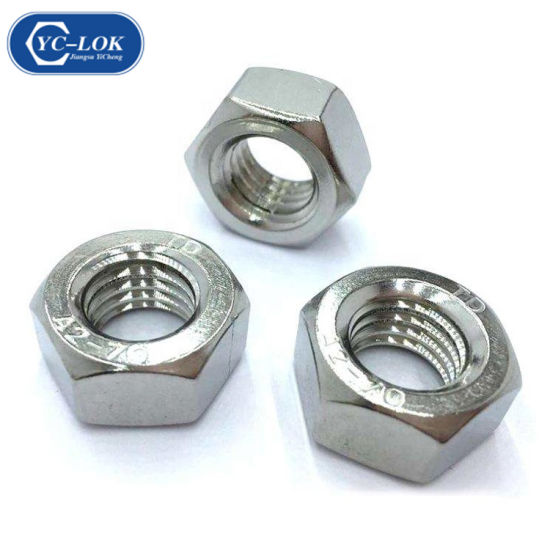 Good Price Stainless Steel 304 316 DIN934 ASTM 18.2.2 Hex Jam Nuts pictures & photos