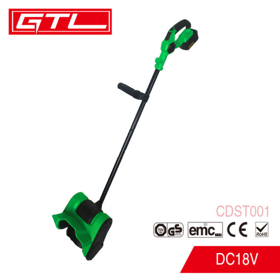 Electric Push Snow Blower DC 18V Lithium Cordless Snow Thrower with Adjustable Discharge Chute (CDST001)