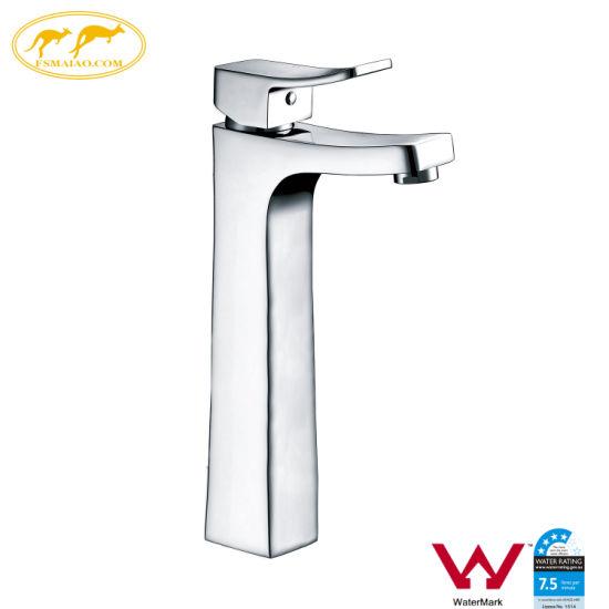 Factory Watermark Bathroom Sanitary Ware Brass Basin High Faucet (HD4400)