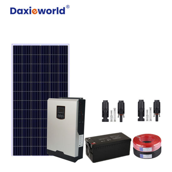 3kw 5kw 6kw 8kw 10kw 20kw Hybrid off Grid Home Solar Energy Power System with Battery/Panel Generator/Inverter