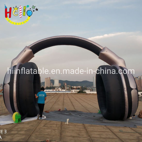 Customized Advertising Cheap Double Inflatable Entrance Large Headphone Arch Inflatable