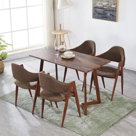 Modern Home Kitchen Living Room Furniture Wood Grain Skin Table