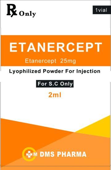 Etanercept Anti Rheumatoid Arthritis Medicine Injection 25mg/Ml