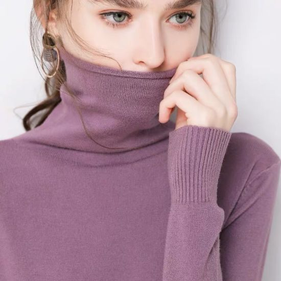 Autumn in Stock Turtleneck Pullover Shirt Long-Sleeved Women Sweaters