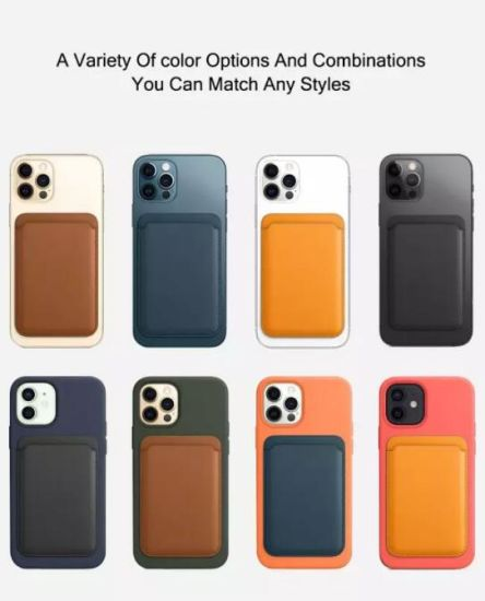 Amazon New Magsafe Leather Wallet Card Holder Case I12 for iPhone 12 PRO Max Magnetic Phone Back Sticker