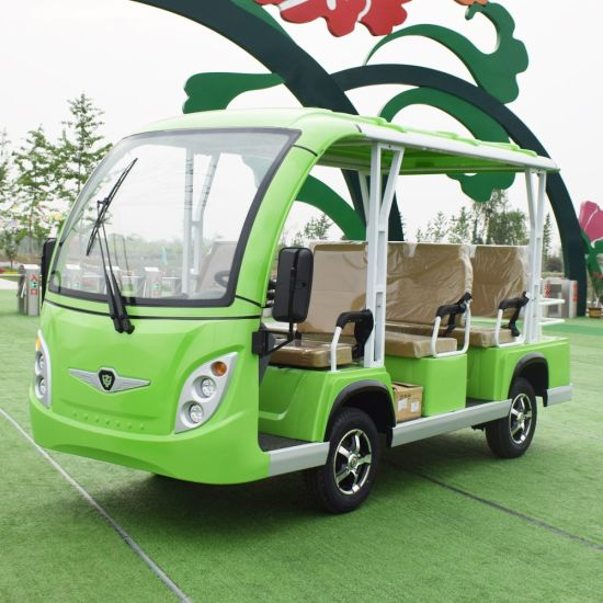 Solar Luxury Electric Vehicle Passenger Van Shuttle Bus Garden Utility Vehicles with 8 11 14 17 23 Seats, Ce Approved pictures & photos