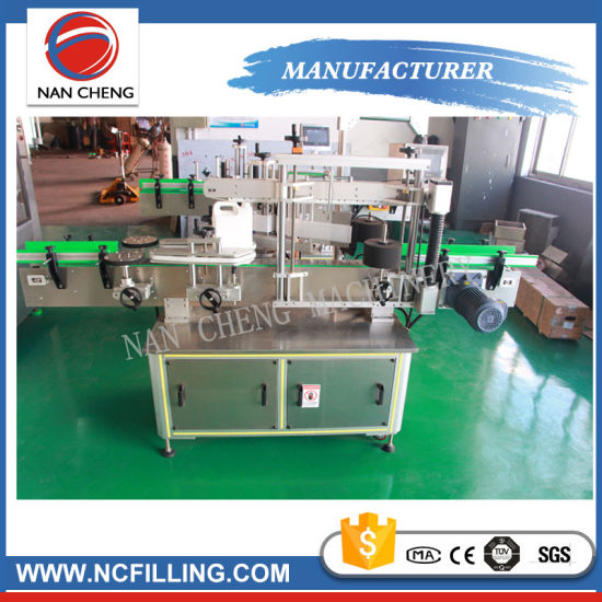 Fully automatic single double side sticker adhesive labeling printing machine