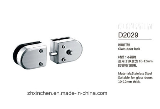 Xc-D2029 High Quality Furniture Hardware Glass Door Lock pictures & photos