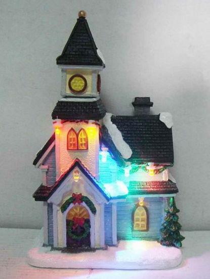 China Christmas House Resin 6′′led Church Use 3 PCS AAA Batteries as ...