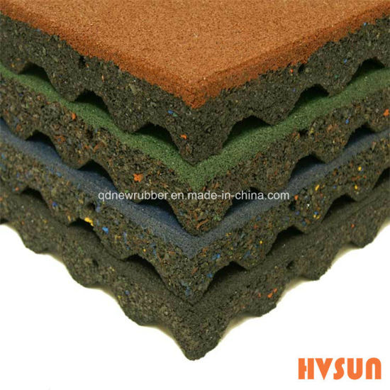 China Water Proof Golden Supplier Rubber Floor Tile Interlocking ...