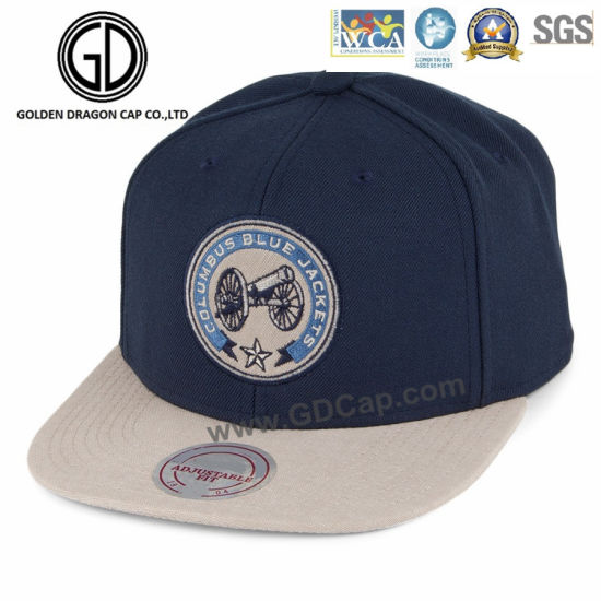 China 2018 Fashion Blue New Design Snapback Cap with Embroidery ... fb201169f4d3