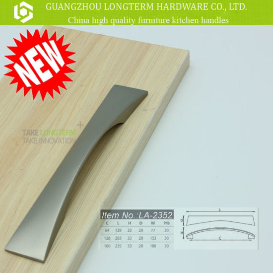 Newest Brush Satin Nickel Zinc Alloy Cabinet Handle pictures & photos