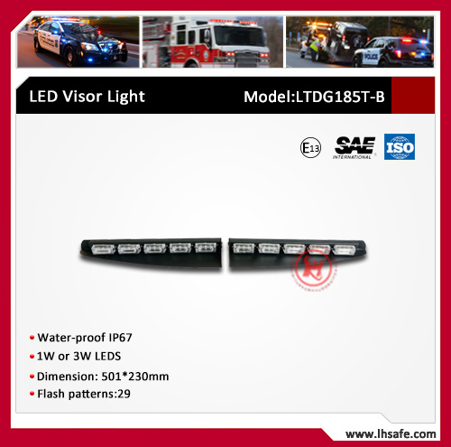 Dual Color LED Split Warning Visor Light (LTDG185T-B) pictures & photos