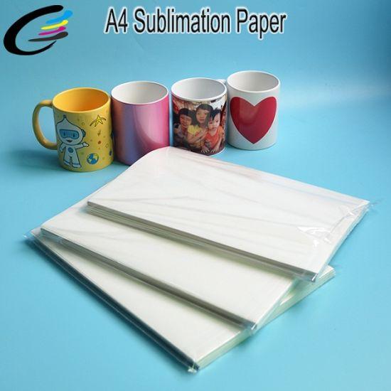 Inkjet Sublimation Paper A4 Size for Mugs / Plates / Mouse / Tshirt / Cups & China Inkjet Sublimation Paper A4 Size for Mugs / Plates / Mouse ...