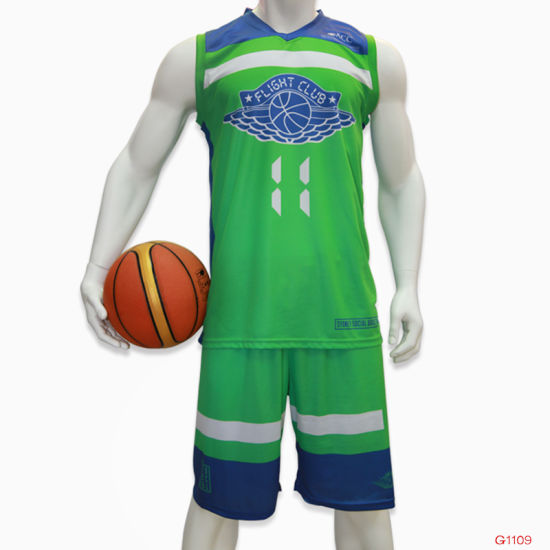 9058dfd445a Custom Basketball Sports Wear Sublimation Green Basketball Jersey Uniform  pictures   photos