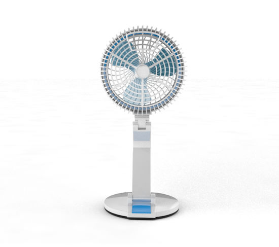 Solar Stand Fan Lamp With Deck Lights Outdoor Home Rechargeable