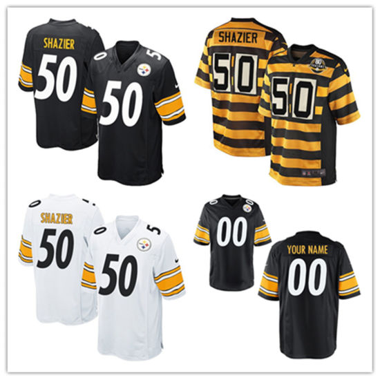 half off da3ab 48f17 Men Women Youth Steelers Jerseys 50 Ryan Shazier Football Jerseys