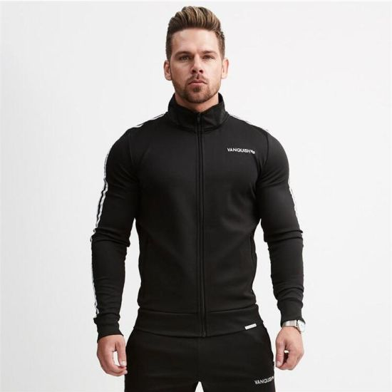 3f561470d943 Men′s Casual Tracksuit Long Sleeve Full-Zip Running Jogging Sports Jacket  and Pants