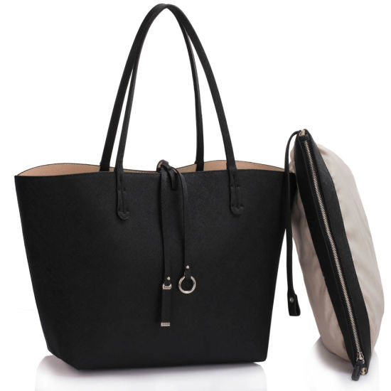 406d3704aa China Ss16 Reversible Black Nude Large Tote Bag for Women - China ...