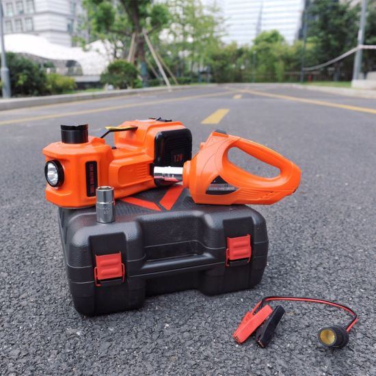 1-10ton Automatic Electric Car Jack with Impact Unscrew Wrench pictures & photos